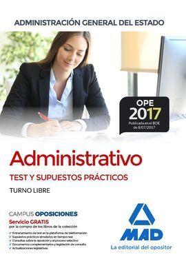 ADMINISTRATIVO TEST Y SUPUESTOS PRÁCTICOS TURNO LIBRE