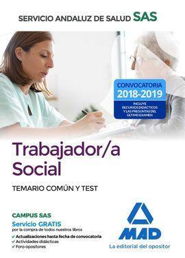 TRABAJADOR/A SOCIAL TEMARIO COMÚN-TEST DEL SAS