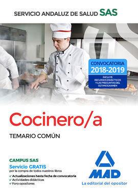 COCINERO/A DEL SERVICIO ANDALUZ DE SALUD. TEMARIO COMÚN