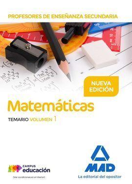 PROFESORES DE ENSEÑANZA SECUNDARIA MATEMÁTICAS TEMARIO VOLUMEN 1