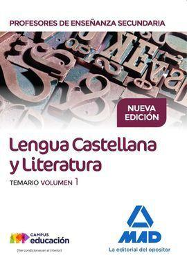 CUERPO DE PROFESORES DE ENSEÑANZA SECUNDARIA. LENGUA CASTELLANA Y LITERATURA. TE