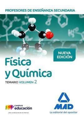 PROFESORES DE ENSEÑANZA SECUNDARIA FÍSICA Y QUÍMICA TEMARIO VOLUMEN 2