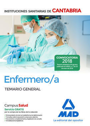 ENFERMERO/A DE LAS INSTITUCIONES SANITARIAS DE CANTABRIA. TEMARIO GENERAL