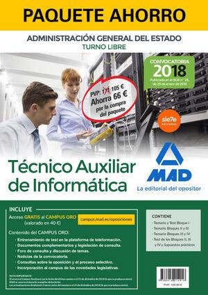 PAQUETE AHORRO TÉCNICO AUXILIAR DE INFORMÁTICA DEL ESTADO (TURN