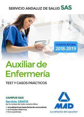 TEST Y CASOS PRACTICOS AUXILIAR ENFERMERIA SAS 2018