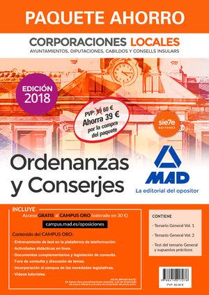 PAQUETE AHORRO ORDENANZAS Y CONSERJES DE CORPORACIONES LOCALES. AHORRO DE 39 ? (