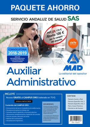 PAQUETE AHORRO AUXILIAR ADMINISTRATIVO DEL SERVICIO ANDALUZ DE SALUD. AHORRO DE