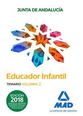 TEMARIO 2 EDUCADOR INFANTIL JUNTA DE ANDALUCÍA. TEMARIO  VOLUM