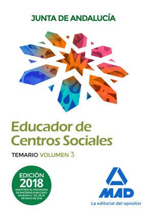 EDUCADORES DE CENTROS SOCIALES. PERSONAL LABORAL DE LA JUNTA DE ANDALUCÍA. TEMAR