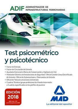 ADIF TEST PSICOMETRICO FERROVIARIAS