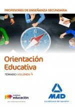 ORIENTACION EDUCATIVA VOL 4 PROFESOR SECUNDARIA