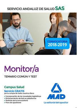 MONITOR DEL SERVICIO ANDALUZ DE SALUD. TEMARIO COMÚN Y TEST