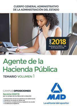 AGENTES HACIENDA PUBLICA VOL 1 ADMINISTRACION ESTADO