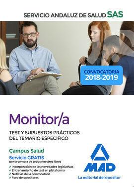 MONITOR/A DEL SERVICIO ANDALUZ DE SALUD. TEST Y SUPUESTOS PRÁCTICOS DEL TEMARIO