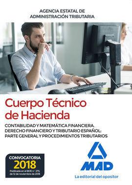 CUERPO  TÉCNICO DE HACIENDA. AGENCIA ESTATAL DE ADMINISTRACIÓN TRIBUTARIA.  CONT