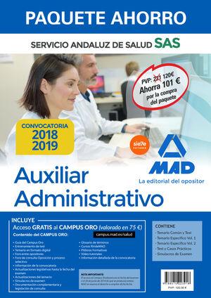 PAQUETE AHORRO AUXILIAR ADMINISTRATIVO DEL SERVICIO ANDALUZ DE