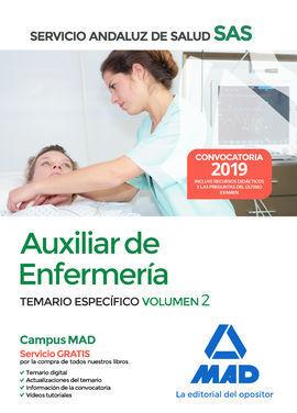 AUXILIAR ENFERMERÍA DEL SERVICIO ANDALUZ DE SALUD. TEMARIO ESPECÍFICO VOLUMEN 2