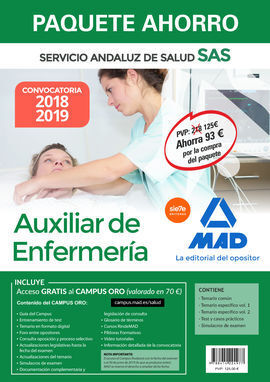 COMPRA ANTICIPADA PAQUETE AHORRO AUXILIAR DE ENFERMERÍA DEL SERVICIO ANDALUZ DE