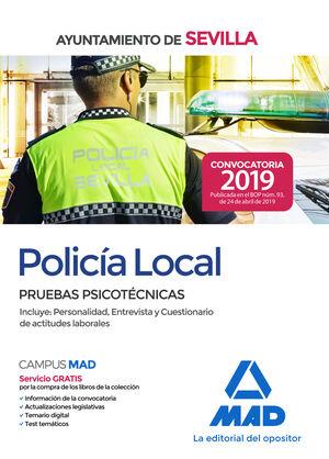 POLICÍA LOCAL DEL AYUNTAMIENTO DE SEVILLA : PRUEBAS PSICOTÉCNICAS