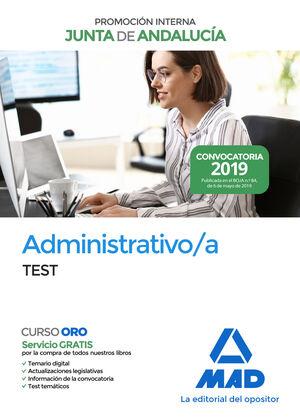 ADMINISTRATIVO DE LA JUNTA DE ANDALUCIA PROMOCION INTERNA. TEST