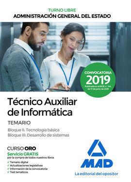 TÉCNICO AUXILIAR DE INFORMÁTICA DE LA ADMINISTRACIÓN GENERAL DEL ESTADO (TURNO L