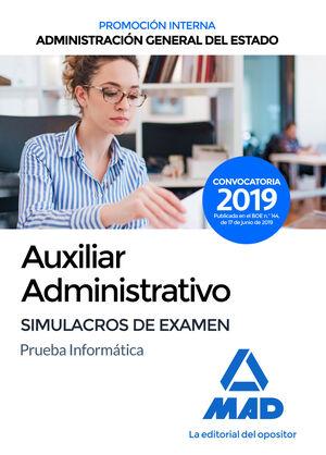 AUXILIAR ADMINISTRATIVO DE LA ADMINISTRACIÓN GENERAL DEL ESTADO (PROMOCIÓN INTER