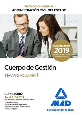 CUERPO GESTION ADMINISTRACION CIVIL DEL ESTADO VOL 1