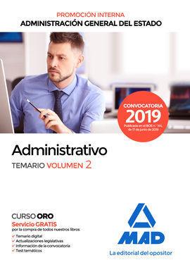 ADMINISTRATIVO DE LA ADMINISTRACIÓN GENERAL DEL ESTADO (PROMOCIÓN INTERNA). TEMA