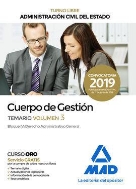 CUERPO DE GESTIÓN DE LA ADMINISTRACIÓN CIVIL DEL ESTADO (TURNO LIBRE).  TEMARIO