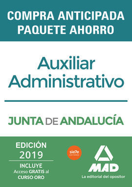 PAQUETE AHORRO AUXILIAR ADMINISTRATIVO JUNTA DE ANDALUCÍA. AHO