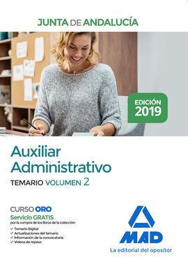 AUXILIAR ADMINISTRATIVO DE LA JUNTA DE ANDALUCÍA. TEMARIO VOLUMEN 2