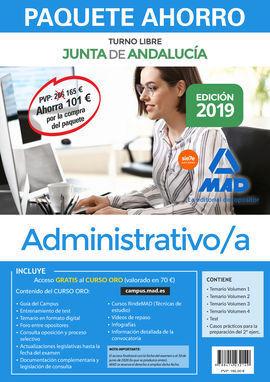 PAQUETE AHORRO ADMINISTRATIVO JUNTA DE ANDALUCÍA (TURNO LIBRE). AHORRA 101 € (IN