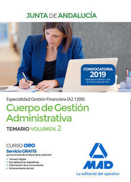 CUERPO DE GESTIÓN ADMINISTRATIVA [ESPECIALIDAD GESTIÓN FINANCIERA (A2 1200)] DE