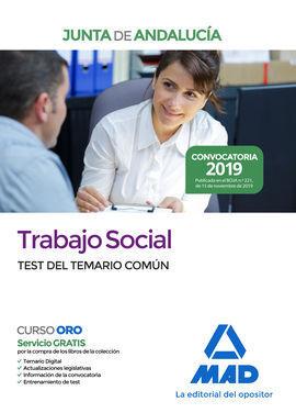 TRABAJADOR SOCIAL TEST TEMARIO COMUN JUNTA ANDALUCIA