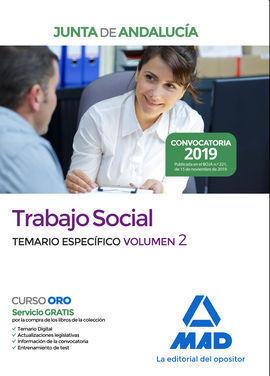 TRABAJO SOCIAL  DE LA JUNTA DE ANDALUCÍA. TEMARIO ESPECÍFICO VOLUMEN 2