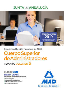 CUERPO SUPERIOR DE ADMINISTRADORES [ESPECIALIDAD GESTIÓN FINANCIERA (A1 1200)] D