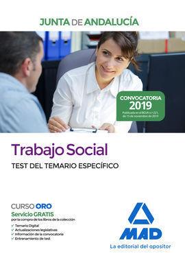 TRABAJO SOCIAL  DE LA JUNTA DE ANDALUCÍA. TEST DEL TEMARIO ESPECÍFICO