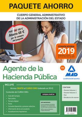 PAQUETE AHORRO AGENTES DE LA HACIENDA PÚBLICA. AHORRA 68 € (INCLUYE TEMARIO VOLÚ