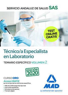 TÉCNICO/A ESPECIALISTA EN LABORATORIO DEL SERVICIO ANDALUZ DE SALUD. TEMARIO ESP