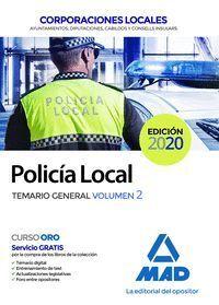POLICIA LOCAL. TEMARIO GENERAL VOLUMEN 2