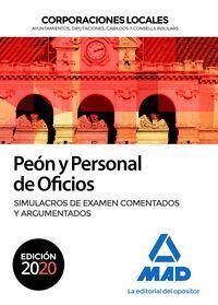 PEON Y PERSONAL DE OFICIOS DE CORPORACIONES LOCALES. SIMULACROS DE EXAMEN COMENT