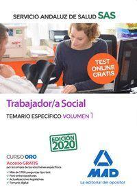 TRABAJADOR/A SOCIAL DEL SERVICIO ANDALUZ DE SALUD. TEMARIO ESPECÍFICO VOLUMEN 1