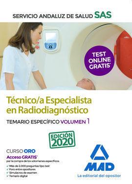 TÉCNICO/A ESPECIALISTA EN RADIODIAGNÓSTICO DEL SERVICIO ANDALUZ DE SALUD. TEMARI