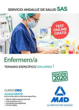 ENFERMERO/A DEL SERVICIO ANDALUZ DE SALUD. TEMARIO ESPECÍFICO VOLUMEN 1