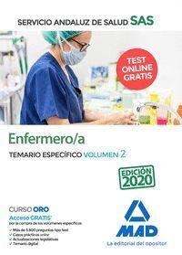 ENFERMERO/A DEL SERVICIO ANDALUZ DE SALUD. TEMARIO ESPECÍFICA VOLUMEN 2