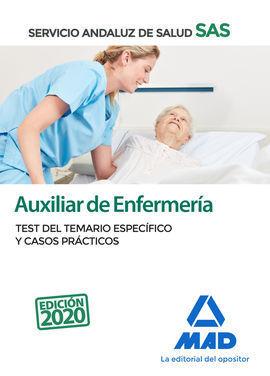 AUXILIAR DE ENFERMERÍA DEL SERVICIO ANDALUZ DE SALUD. TEST DEL TEMARIO ESPECÍFIC