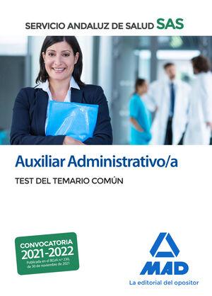 AUXILIAR ADMINISTRATIVO/A DEL SERVICIO ANDALUZ DE SALUD. TEST DEL TEMARIO COMÚN