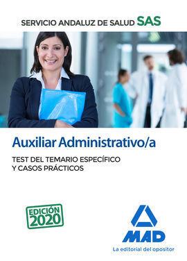 AUXILIAR ADMINISTRATIVO/A DEL SERVICIO ANDALUZ DE SALUD. TEST DEL TEMARIO ESPECÍ