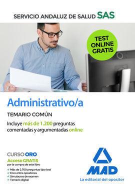 ADMINISTRATIVO/A DEL SERVICIO ANDALUZ DE SALUD. TEMARIO COMÚN