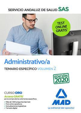 ADMINISTRATIVO/A DEL SERVICIO ANDALUZ DE SALUD. TEMARIO ESPECÍFICO VOLUMEN 2